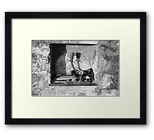 A Yoke In A Wall Framed Print
