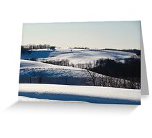 Cold Across the Land Greeting Card