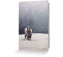 The Solitary sheep Greeting Card