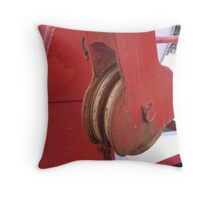 Red Pulley Throw Pillow