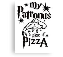 My patronus is a piece of pizza Canvas Print