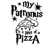 My patronus is a piece of pizza Photographic Print