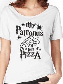 My patronus is a piece of pizza Women's Relaxed Fit T-Shirt