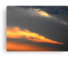 Sunset Streaks Canvas Print