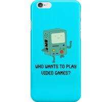 """""""Who Wants To Play Video Games?"""" iPhone Case/Skin"""