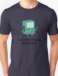 """""""Who Wants To Play Video Games?"""" T-Shirt"""