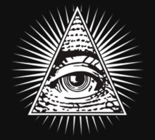 illuminati-eye-of-providence Kids Tee