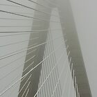 Foggy Tower - Ravenel Bridge, Charleston SC by bendandpeel