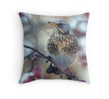 Birdzilla the Viking Throw Pillow