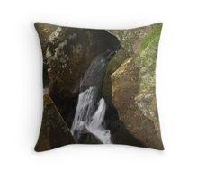 Water Flow Through Rock Cave Throw Pillow