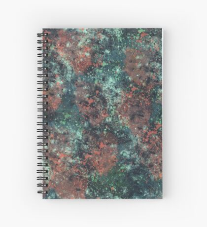 Galactic and Green Spiral Notebook