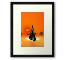 Planet Inferno Launch Framed Print