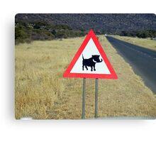 caution... Canvas Print