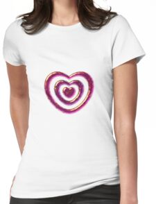 Jewelry Heart Womens Fitted T-Shirt