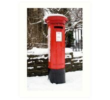 Postbox...a disappearing feature  Art Print
