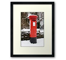 Postbox...a disappearing feature  Framed Print