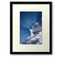 Blue Sky and Sunbeams Framed Print