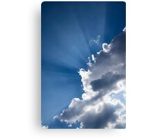 Blue Sky and Sunbeams Canvas Print