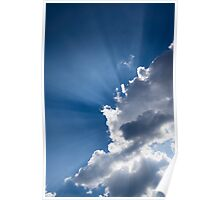 Blue Sky and Sunbeams Poster