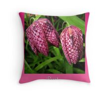 Valentine Tulips Throw Pillow