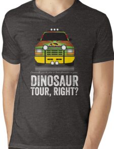 Jurassic Park - Jeep Print Mens V-Neck T-Shirt