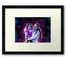 viki & Haelyn Framed Print