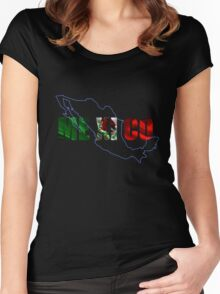 Mexico iPhone / Samsung Galaxy Case - Prints Women's Fitted Scoop T-Shirt