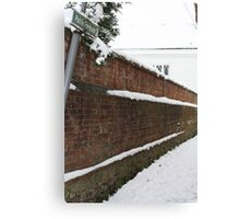 Angled Public Footpath Canvas Print