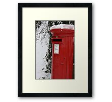 Brilliant Red Postbox Framed Print
