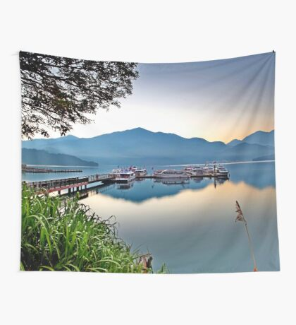 a desolate Taiwan landscape Wall Tapestry