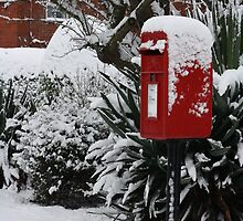 Brilliant Red Postbox ll by StephLanfear