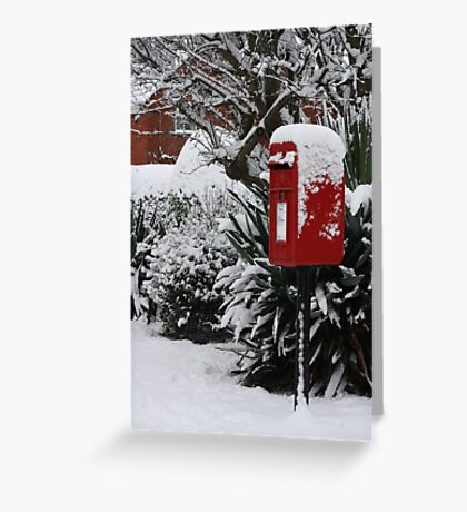 Brilliant Red Postbox ll Greeting Card