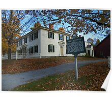 The Pierce Homestead, New Hampshire, USA Poster