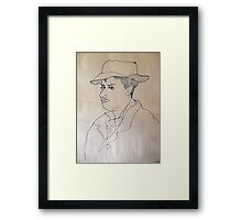 Pen And Ink Drawing Study. Framed Print