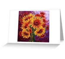 Sunflowers & Poppies Greeting Card