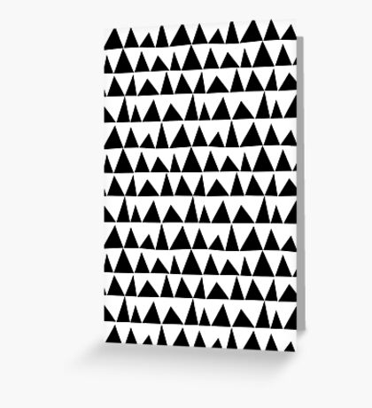 Playful triangles Greeting Card