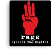 Rage Against The Capitol Canvas Print