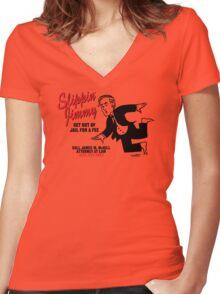 Slippin' Jimmy Women's Fitted V-Neck T-Shirt