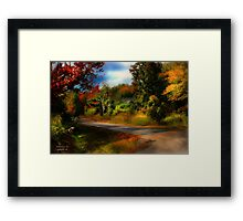 """ Remember the Road "" Framed Print"