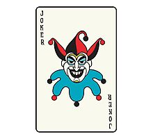 Joker Card Photographic Print