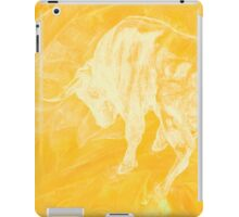 Yellow Bull Negative iPad Case/Skin