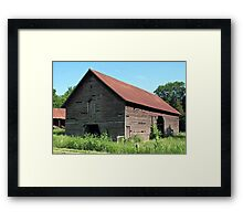 """A Simple and Old Timey Barn""... prints and products Framed Print"