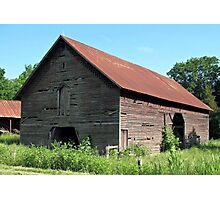"""A Simple and Old Timey Barn""... prints and products Photographic Print"