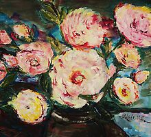 The Dancer's Peonies by Helena Bebirian