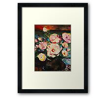 The Dancer's Peonies Framed Print