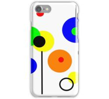 Simple circles, primary colors design, printed on... iPhone Case/Skin