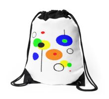 Simple circles, primary colors design, printed on... Drawstring Bag