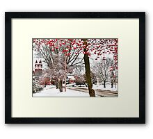 A Normal Rockwell Winter's Day Framed Print