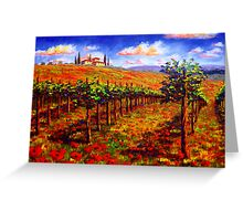 Tuscany Vineyard & Poppies Greeting Card