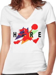 Hare Jordan Women's Fitted V-Neck T-Shirt